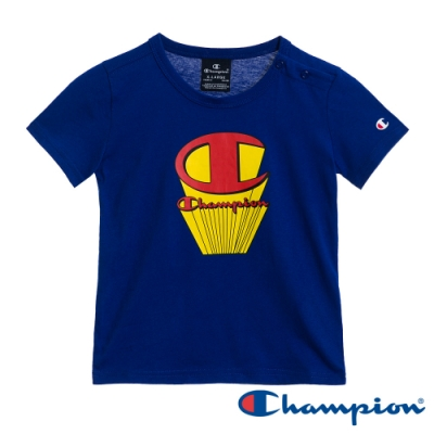 Champion EU小童印花Logo短Tee 藍色