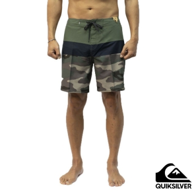 【QUIKSILVER】SURFSILK PANEL 18 衝浪褲 軍綠