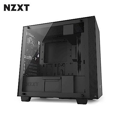 NZXT恩傑 H400 MICRO-ATX CASE 電腦機殼/鋼化側透玻璃-黑