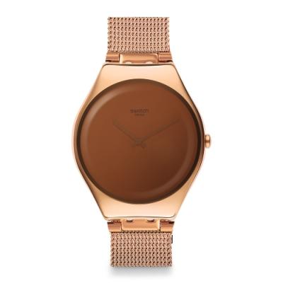 Swatch 超薄金屬錶 Skin Irony 魔鏡金-38mm