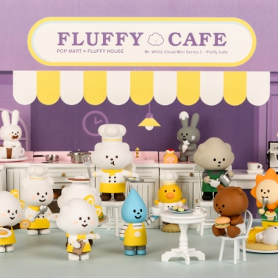 FLUFFY HOUSE 白雲先生Café咖啡店系列公仔盒玩(二入隨機款)