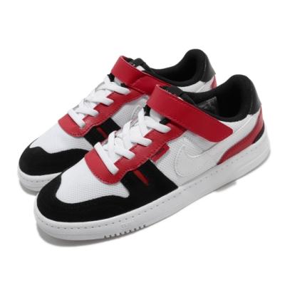 Nike 休閒鞋 Squash-Type 運動 童鞋 基本款 舒適 簡約 魔鬼氈 中童 穿搭 白 紅 CJ4120101