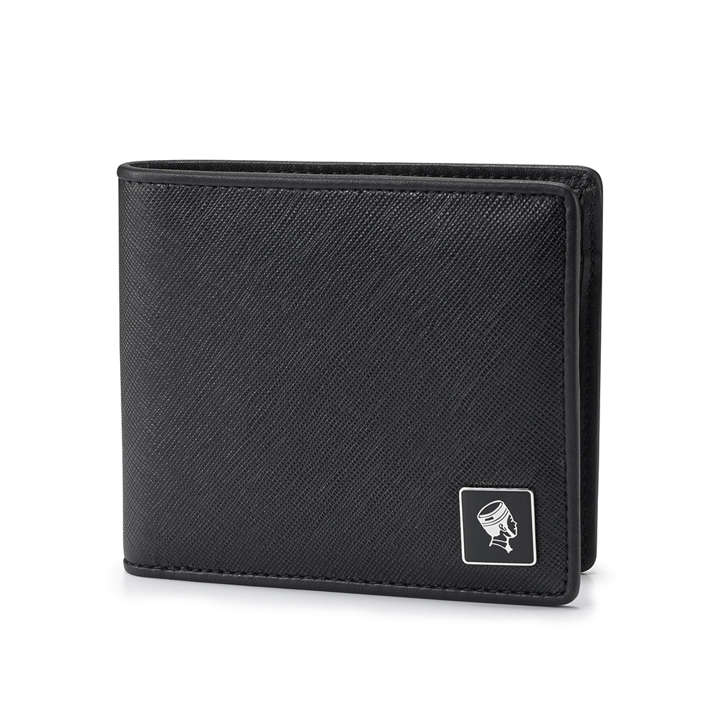 PORTER - 法式時尚BEND質感橫式零錢皮夾 - 黑