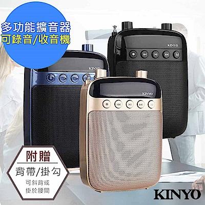 KINYO 多功能耳麥式擴音器/錄音收音機(TDM-90)