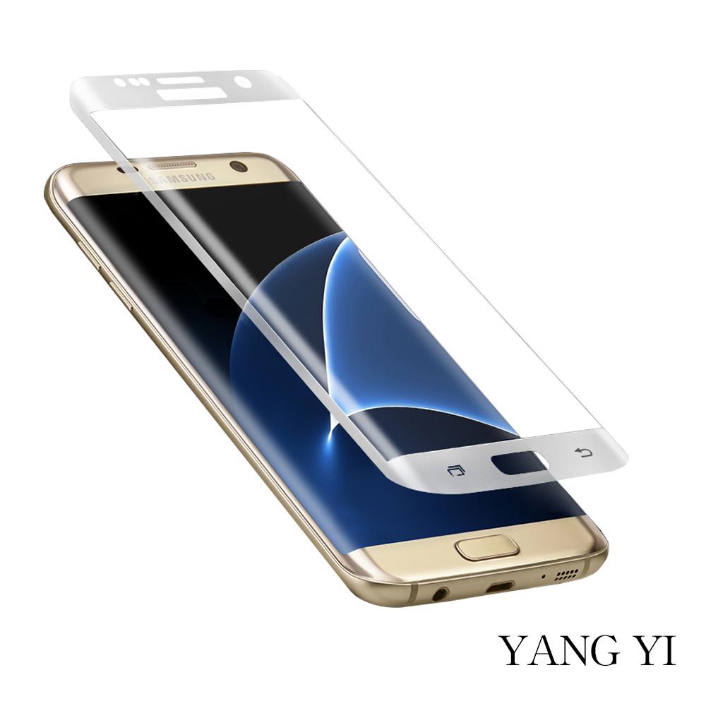 揚邑 Samsung Galaxy S7 edge 滿版鋼化玻璃膜3D曲面防爆抗刮保護貼 @ Y!購物
