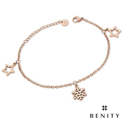 BENITY 星之雪 細緻手鍊 典雅款式 醫療級抗敏 白鋼 IP玫瑰金 女手鍊