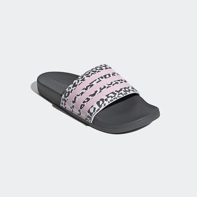 ADIDAS 涼拖鞋 運動 防水 女鞋 豹紋粉 H01038 COMFORT SLIDES
