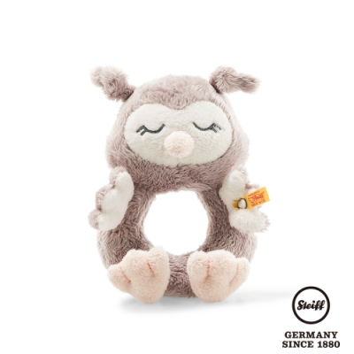 STEIFF德國金耳釦  Ollie owl grip toy with rattle 貓頭鷹 (嬰幼兒手搖鈴)