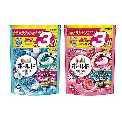 [時時樂限定]BOLD 日本進口三合一洗衣膠囊/洗衣球 52顆(淡雅花香/清淨花香)