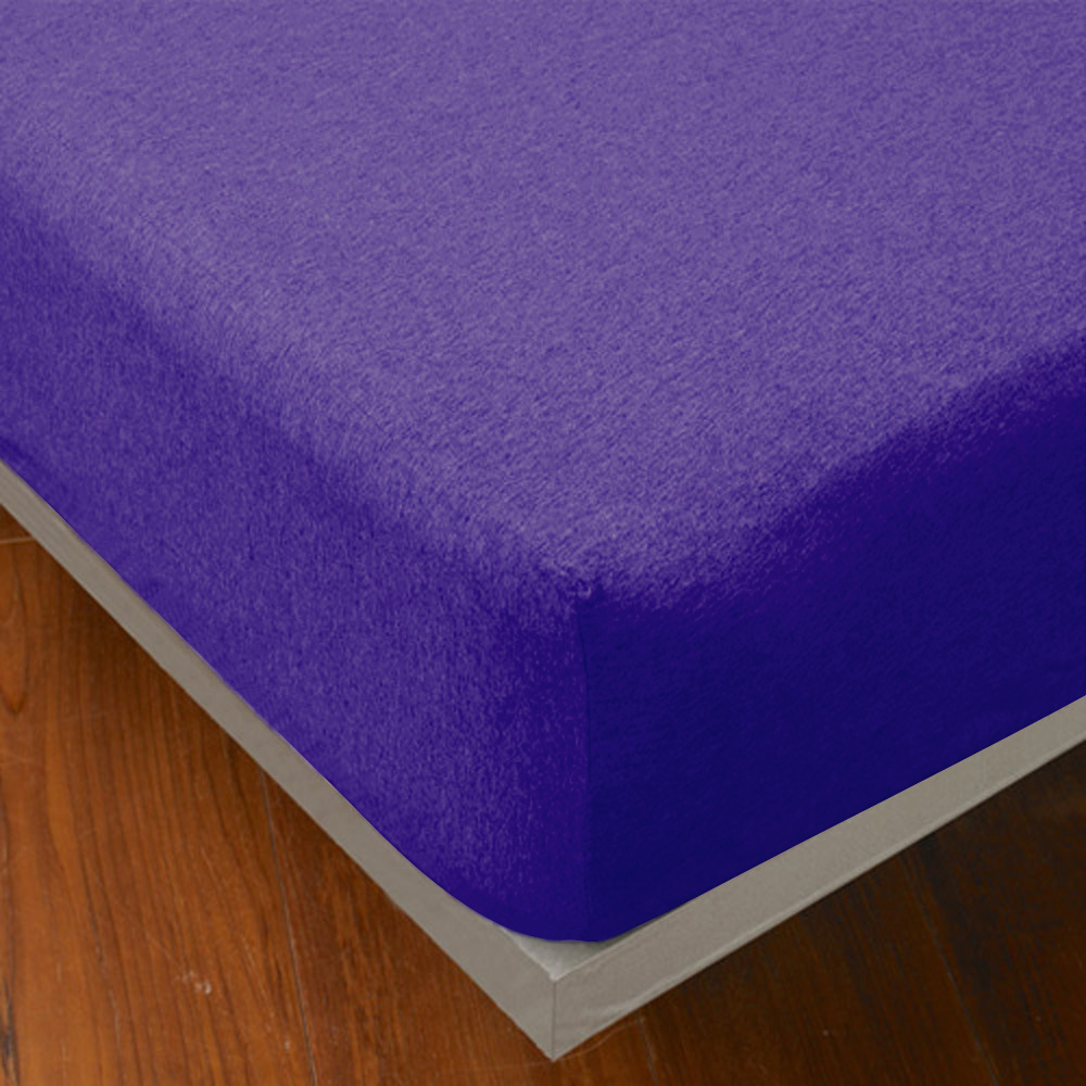 Yvonne Collection 特大純棉素面床包-紫