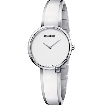 Calvin Klein Seduce誘惑時尚手環式腕錶(K4E2N116)-白