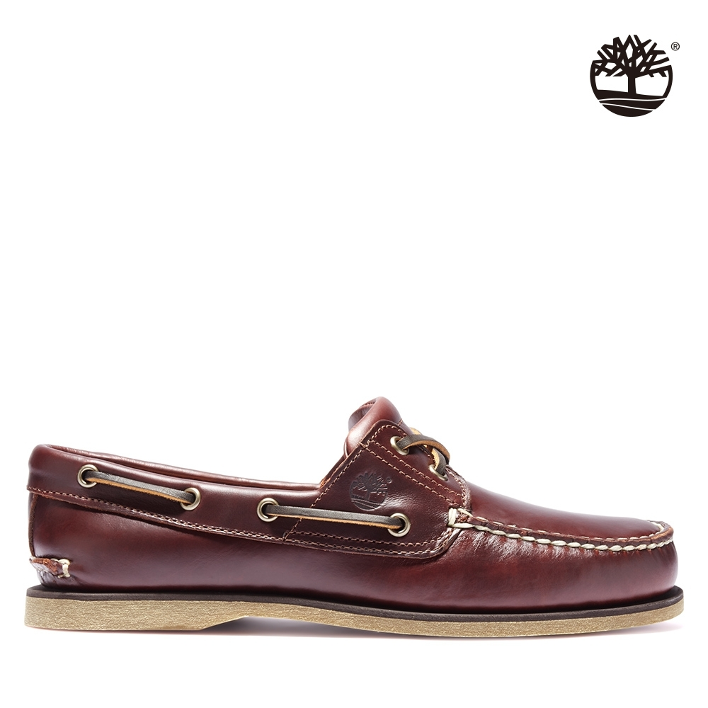 Timberland 男款深棕色全粒面經典帆船鞋 25077