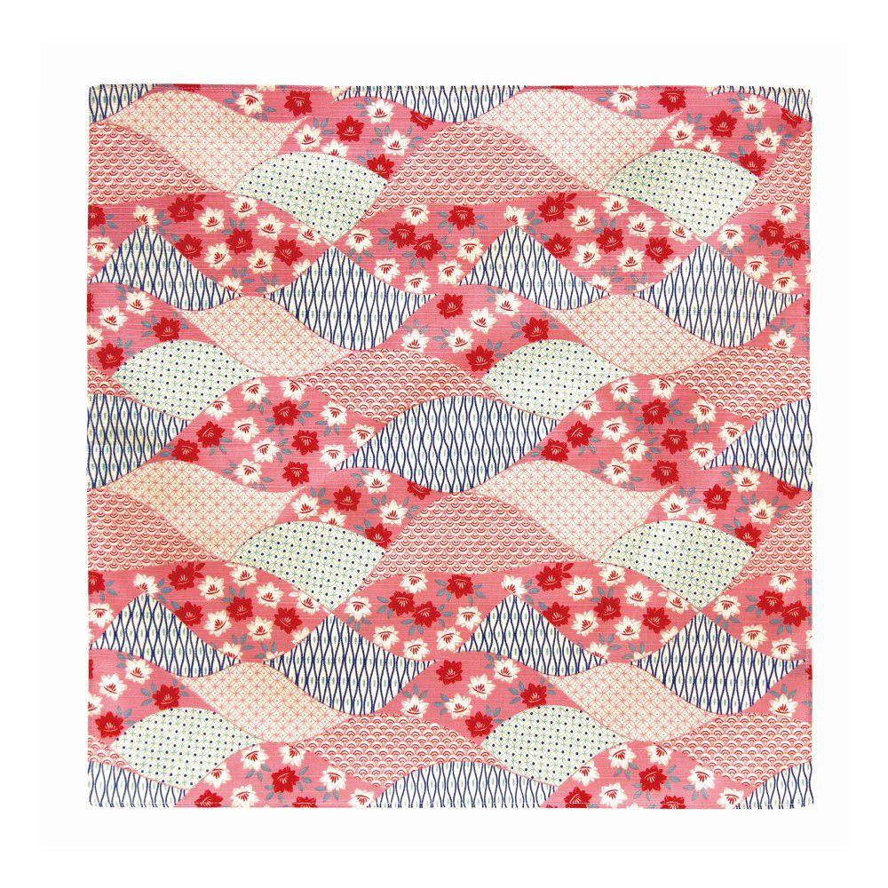 日本Prairiedog 伊勢形紙風呂敷/便當巾-紅色波紋