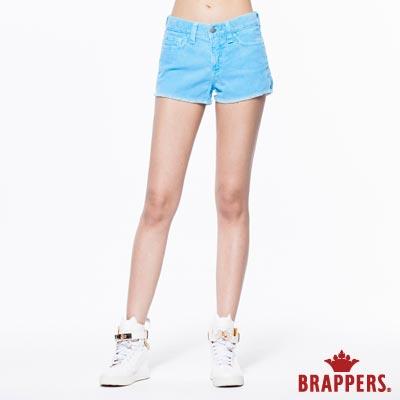 BRAPPERS 女款 Boy Friend Jeans系列-彈性條絨熱褲-藍