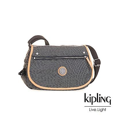 Kipling編織灰撞色肩背側背包-KOUROU-EDGELAND系列