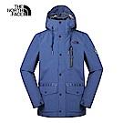 The North Face北面男款藍色防風防水衝鋒衣 3V3OHDC