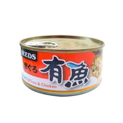SEEDS聖萊西 惜時まぐる有魚貓餐罐(鮪魚+鮮嫩雞肉) 170g