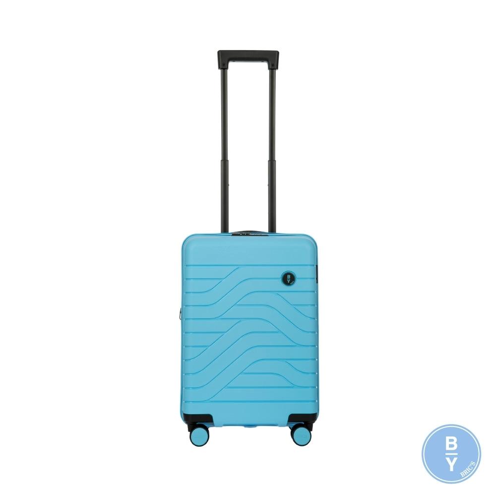 BRICS 義大利 BY Ulisse 19.5吋 淺藍 可擴充拉鍊登機箱 USB充電孔