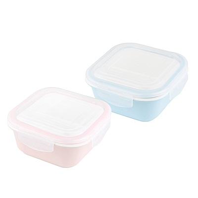 [結帳75折]法國sunlife第三代皇家冰瓷2分隔方形保鮮盒600ML(2色可選)