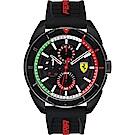 Scuderia Ferrari 法拉利 FORZA 競速手錶-黑/44mm