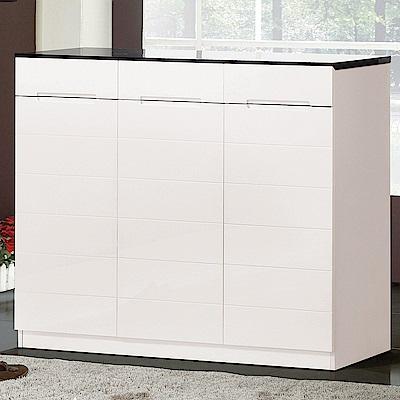 H&D 亞伊白色4尺鞋櫃