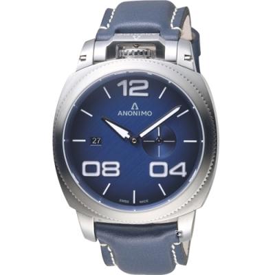 Anonimo Militare 義式軍風機械腕錶-蒼穹藍/43.4mm