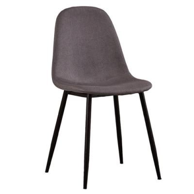 【AT HOME】現代簡約咖啡色布質鐵藝餐椅/休閒椅/工作椅/洽談椅(馬拉桑)
