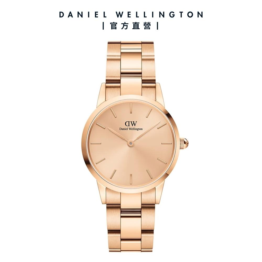 Daniel Wellington 官方直營 ICONIC LINK UNITONE 28mm 精鋼錶-特調玫瑰金