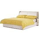 品家居 夏比特6尺皮革雙人加大床台組合(不含床墊)-182x218x100cm免組