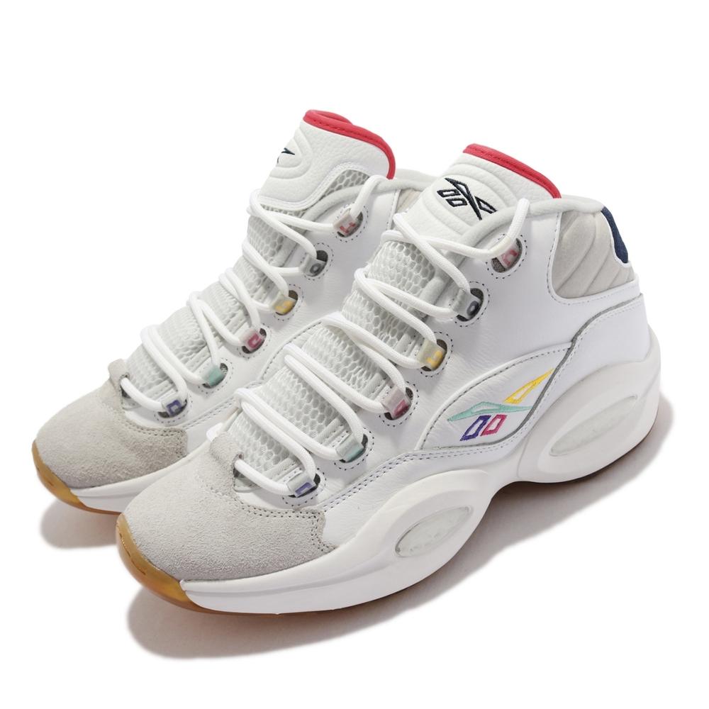 Reebok 籃球鞋 Question Mid 運動 男鞋 經典款 Iverson 艾佛森 避震 包覆 白彩 GY2641