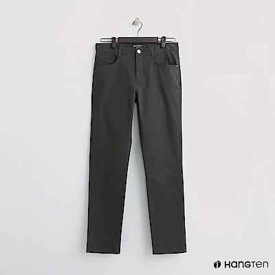 Hang Ten - 男裝 -純色休閒直筒褲-綠