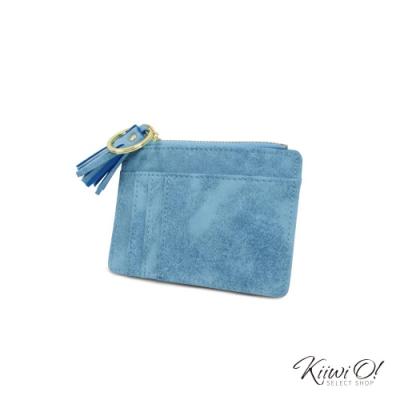 Kiiwi O! 流蘇票卡夾/零錢包 Grace 天空藍