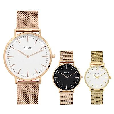 CLUSE荷蘭精品手錶 波西米亞不鏽鋼系列 米蘭錶帶33/38mm(多款可選)