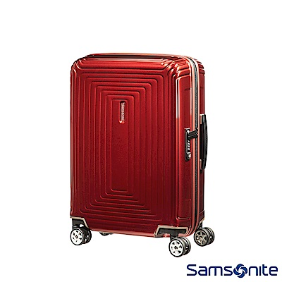 Samsonite 新秀麗 20吋Aspero 耐衝擊線條迴圈PC硬殼登機箱(紅)