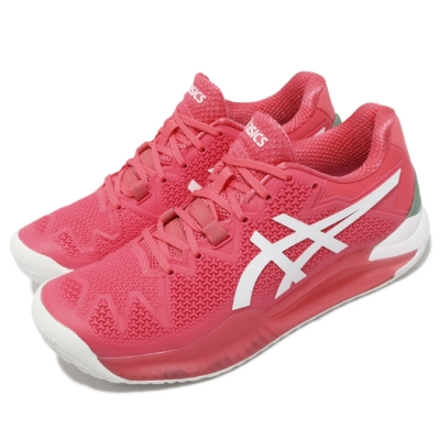 Asics 網球鞋 Gel Resolution 8 女鞋 亞瑟士 膠底 超耐磨橡膠 緩衝 亞瑟膠 粉 白 1042A072702