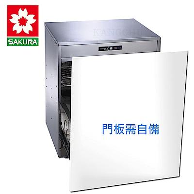 櫻花牌 Q7596AML 崁門板單門雙層設計臭氧型50cm下崁式烘碗機(不含安裝)