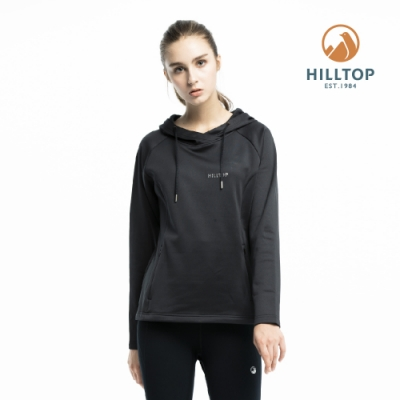 【hilltop山頂鳥】女款ZISOFIT保暖吸濕抗菌刷毛上衣H51FI8魚子醬黑