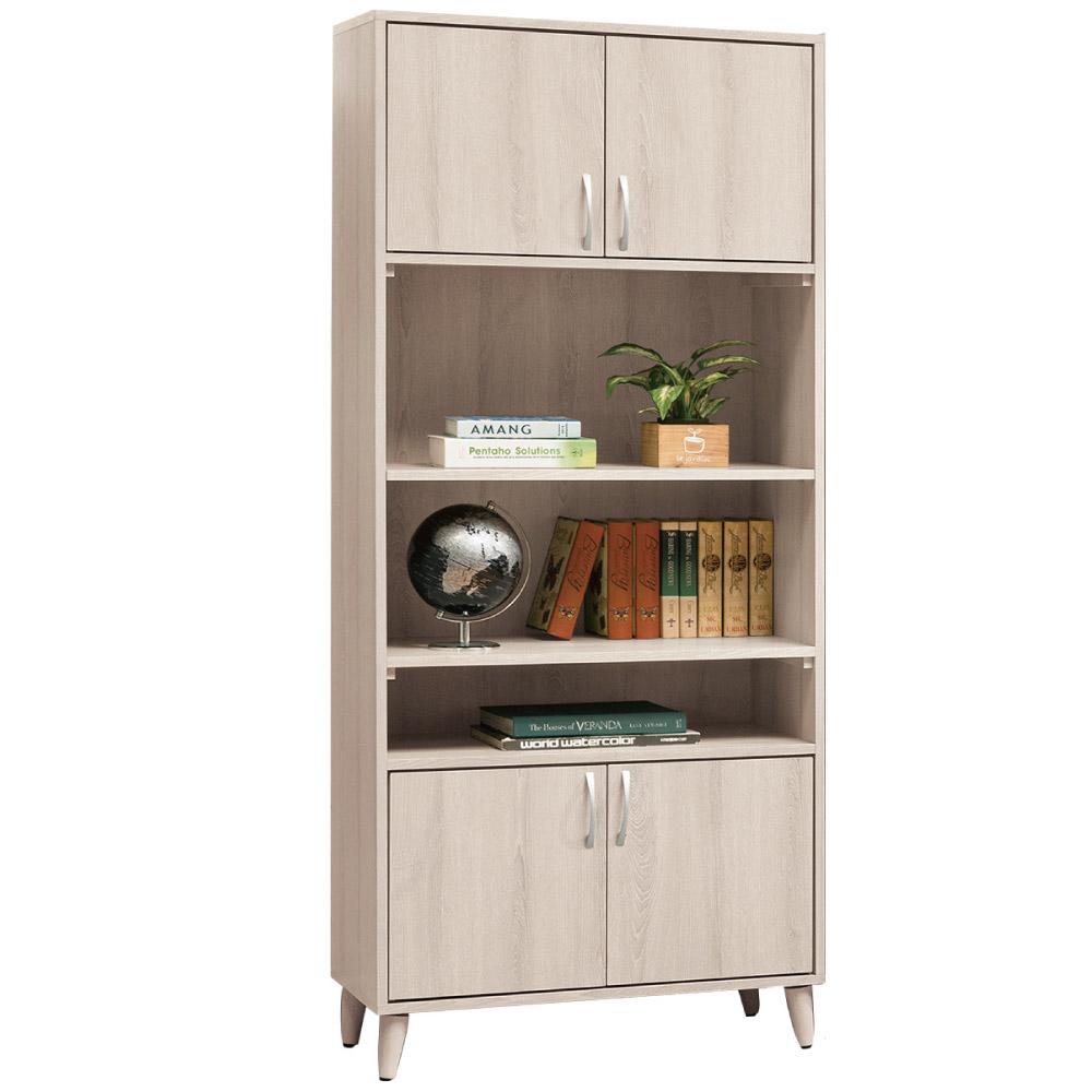 文創集 佛帕德時尚2.7尺美型四門書櫃/收納櫃-80x40x186cm-免組