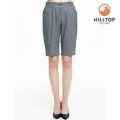 【hilltop山頂鳥】女款超潑水抗UV合身短褲S09F66灰綠