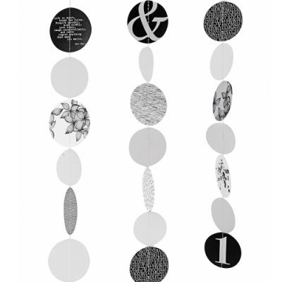 《RADER》文藝圖紋掛飾(黑白)