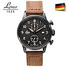Laco 朗坤861976德國工藝ENGADIN雙眼計時腕錶空軍飛行員系列 石英錶42mm