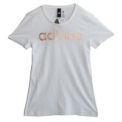 Adidas FOIL LINEAR-短袖上衣-女