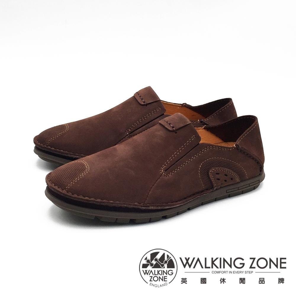 WALKING ZONE 可踩腳休閒鞋 開車鞋 男鞋 - 深咖(另有淺棕)
