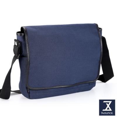 74盎司 Tidy簡約素色側背包(大)[G-1065-TI-M]藍