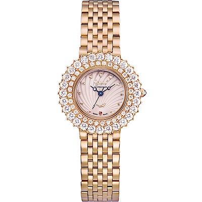 Ogival 愛其華 絢彩珠寶石英腕錶-玫瑰金 380-014DLR