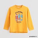 Hang Ten -童裝 - 休閒風滑板LOGO棉質上衣 - 黃
