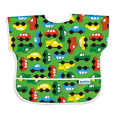 美國Bumkins兒童短袖防水圍兜-彩色車車BKU-227