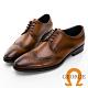GEORGE 喬治皮鞋經典系列 真皮翼紋雕花德比鞋 -棕 115009CZ product thumbnail 1