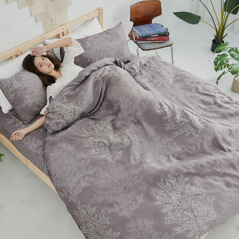 BUHO 100%TENCEL天絲床包枕套組-雙人特大(森沐影畔)