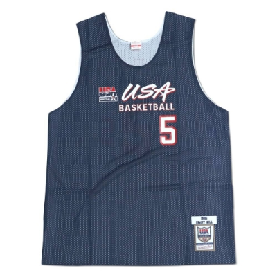 M&N Authentic球員版練習賽雙面球衣 96 Dream Team #5 Grant Hill